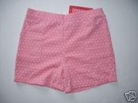 NWT Gymboree CANDY APPLE Pink Dot Shorts 10