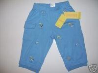 NWT Gymboree JUNGLE GYM Blue Elephant Pants 12-18 m