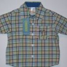 NWT Gymboree RESORT GETAWAY Plaid Cobalt Shirt Top 6-12