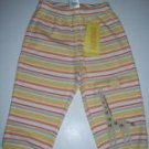 NWT Gymboree TROPICAL OASIS Yellow Striped PANTS 0-3