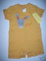 NWT Gymboree FIESTA FIESTA Yellow Donkey Romper 3-6 m