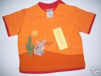 NWT Gymboree FIESTA FIESTA Orange Donkey Tee Top 3-6