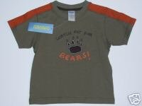 NWT Gymboree CAMP SCOUT Watch Out For Bear Tee 2T