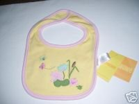 NWT Gymboree TINY POND Reversible Lilly Pad Bib