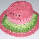 NWT Gymboree CORAL REEF Stripe Straw Hat 0 3 6 9 12