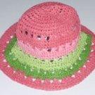 NWT Gymboree CORAL REEF Stripe Straw Hat 0 3 6 9 12