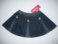 NWT Gymboree CORAL REEF Denim Flower Skirt 2t