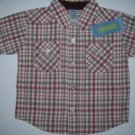 NWT Gymboree SUMMER RODEO Wild West Plaid Shirt 12-18 m