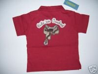NWT Gymboree SUMMER RODEO Cowboy Saddle Polo Shirt 2T
