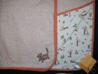 NWT Gymboree AUTUMN FOREST Chipmunk Reversible Blanket