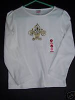 NWT Gymboree ROYAL GARDEN White Long Sleeve Tee Top 4