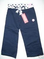 NWT Gymboree PARISIAN ROSE Navy Capri Pants 7 slim
