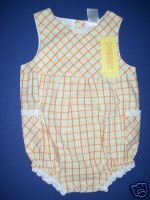 NWT Gymboree PRAIRIE RANCH Girl Plaid Romper 0-3 M