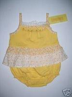 NWT Gymboree PRAIRIE RANCH Yellow Outfit 0-3 m
