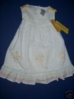 NWT Gymboree PRAIRIE RANCH White Tree Dress 6-12 M