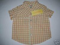 NWT Gymboree Prairie Ranch Boy Shirt Plaid 6-12 M