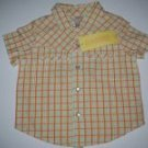 Gymboree Prairie Ranch Boy Shirt Plaid 6-12 M