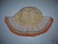 NWT Gymboree PRAIRIE RANCH Girls Flower Sun Hat 6 12