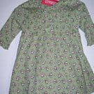 NWT Gymboree GIRL DETECTIVE Green Floral Dress 3-6 m