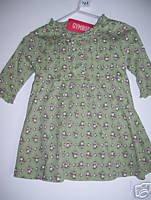 NWT Gymboree GIRL DETECTIVE Green Floral Dress 3-6 m