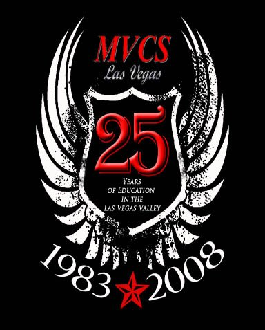 MVCS 25TH Anniversary Tshirt (black) (must pick up at the school, no shipping available).