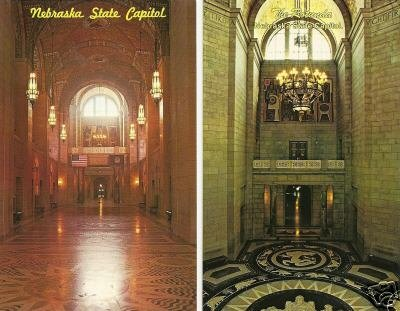 LOT of 2 - NEBRASKA STATE CAPITOL - Lincoln, NE
