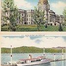 Lot of 2 GIANT Postcards, Montana - Idaho