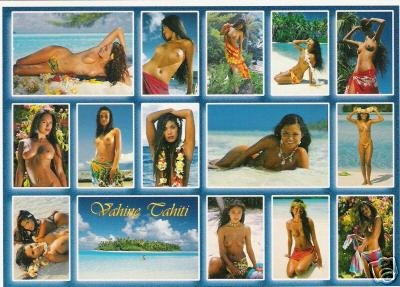 Girls of the South Seas - Topless Tahiti Girls- Card 21