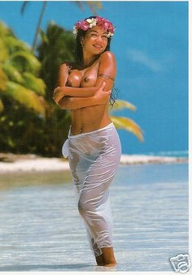 Girls of the South Seas - Topless Tahiti Girl - Card 13