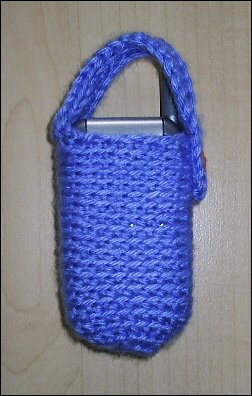 berry blue cell phone cozy