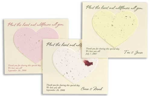 Plantable Heart Shaped Flat Card Favors