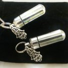 "HAND OF GOD 2pc.Special Set - CREMATION URN 18"" Necklace & Keychain Urn Set"