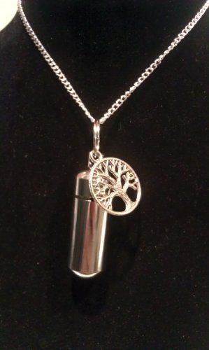 """Tree of Life 18"""" PILL HOLDER NECKLACE"""
