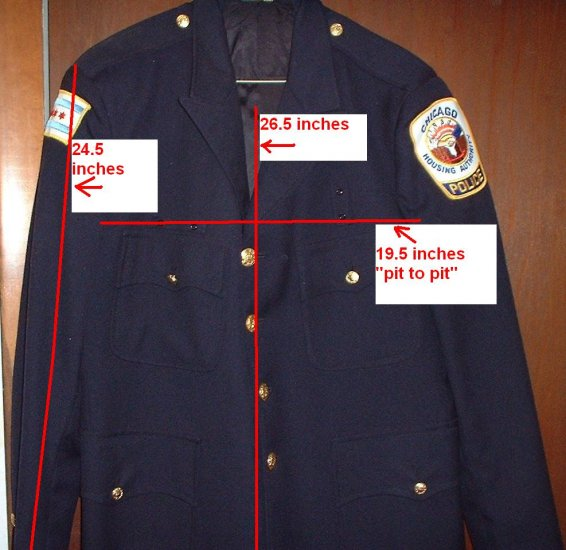 CHICAGO POLICE Authentic dress jacket VERY RARE!