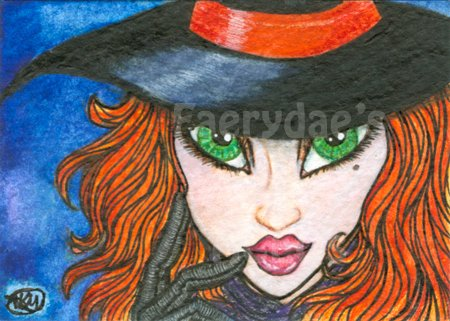 ACEO Print fdae Halloween Witch fantasy art