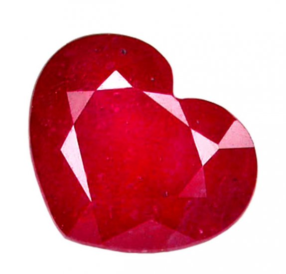 1.77 ct. Ruby, Glowing Rich Red, Heart Shape, Natural Gemstone, Madagascar