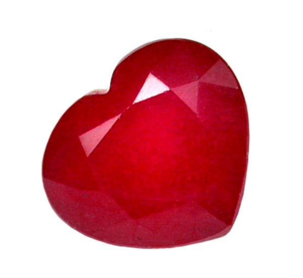 1.62 ct. Ruby, Glowing Rich Red, Heart Shaped Natural Gemstone, Madagascar