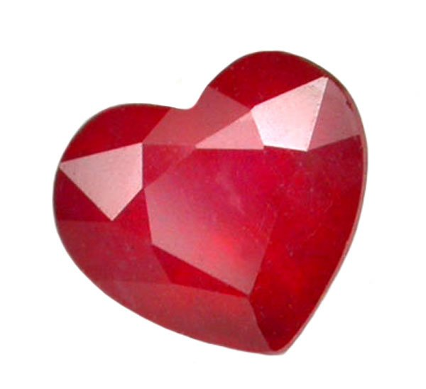 1.28 ct. Ruby, Rich Red, Heart Shaped/Faceted Natural Gemstone, Madagascar