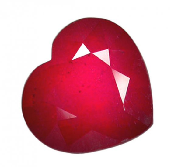 3.81 ct. Ruby, Rich Red, Heart Faceted Natural Gemstone, Madagascar