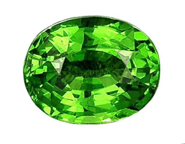 SOLD 0.79 ct. Tsavorite Garnet, Intense Rich Green, VVS Oval Faceted Natural Gemstone