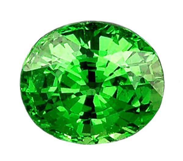 0.51 ct. Tsavorite Garnet, Intense Rich Green, IF Oval Facet Untreated Natural Gemstone