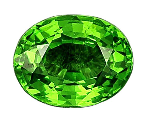 0.77 ct. Tsavorite Garnet, Intense Rich Green, VVS Oval Faceted Natural Gemstone