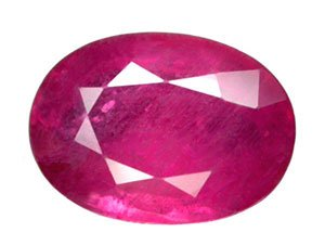 HOLD 1.87 ct. Ruby, Pinkish Red, Oval Faceted Natural Gemstone