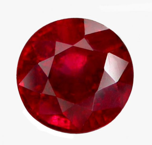 2.02 ct. Ruby, Glowing Rich Red, Round Faceted Natural Gemstone