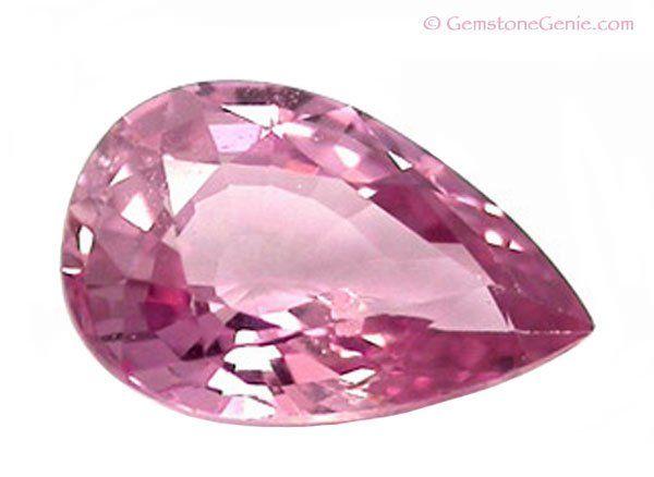 0.52 ct. Sapphire, Pink, VVS1 Pear (Tear Drop) Faceted Unheated Natural Gemstone, Ceylon