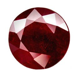1.37 ct. Ruby, Rich Blood Red, Round Faceted Natural Gemstone