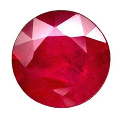 SOLD 1.15 ct. Ruby, Pinkish Red, Round Faceted Natural Gemstone