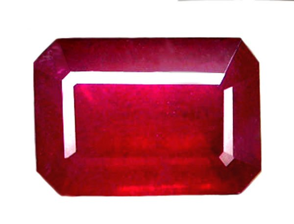 2.15 ct. Ruby, Glowing Rich Red, Octagon Faceted Natural Gemstone