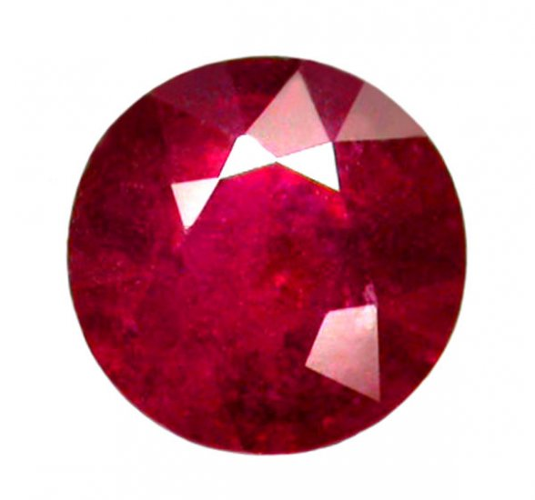 2.30 ct. Ruby, Glowing Rich Red, Round Faceted Natural Gemstone