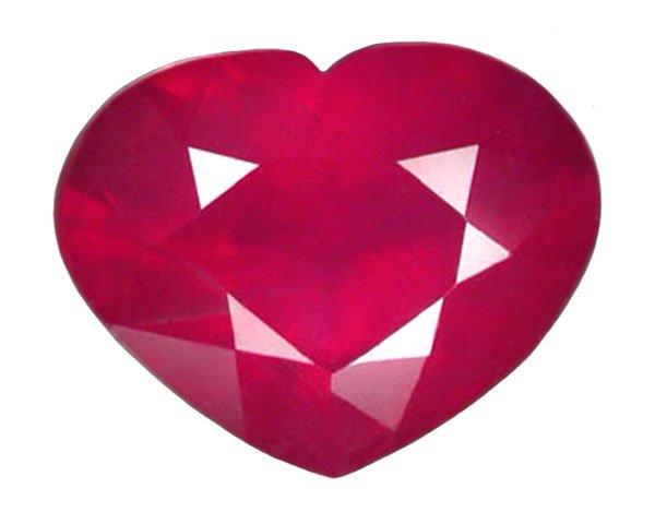 1.62 ct. Ruby, Pinkish Red, Heart Shaped Natural Gemstone, Madagascar